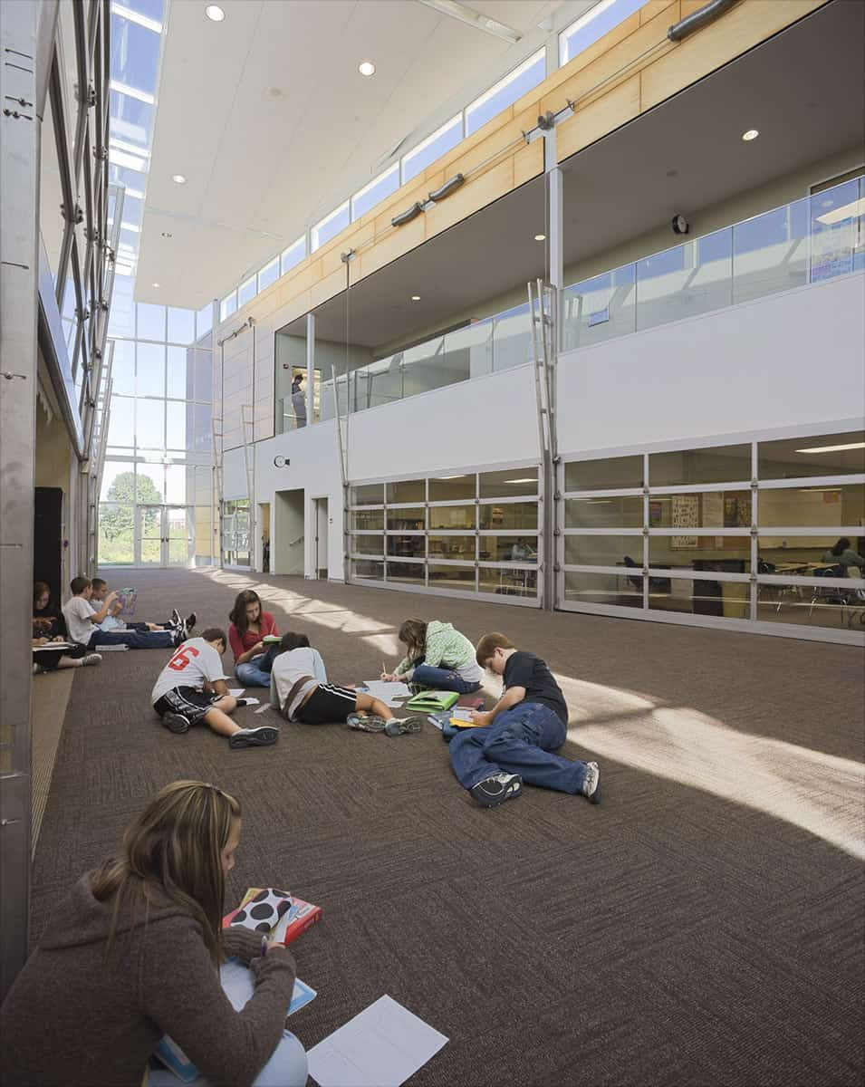 Interior View Of Daylit Flexible Study   South Junior High School    Architecture   Gould Evans