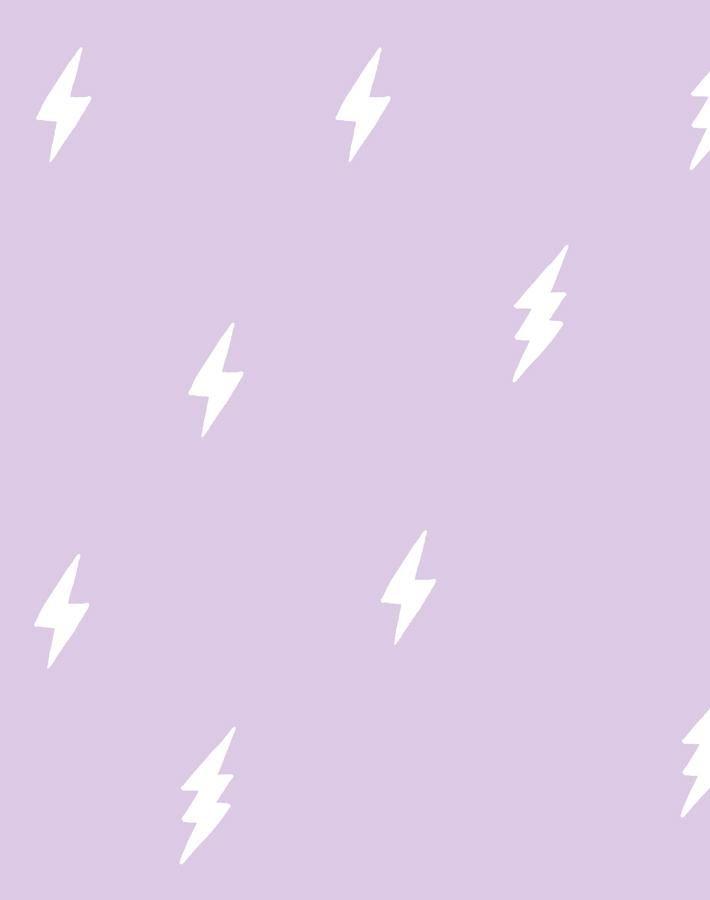 'Zeus Lightning' Wallpaper by Tea Collection - Lavender - Wallpaper Roll