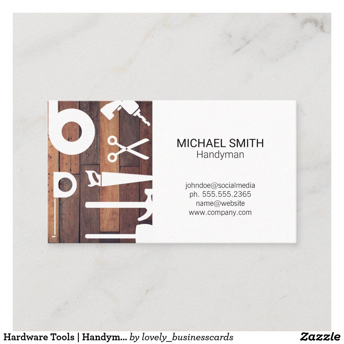 Hardware Tools Handyman Property Manager Business Card Zazzle Com In 2021 Handyman Property Management Business Cards