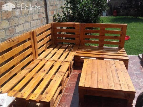 Loungeset 50 Euro.Angular Euro Pallet Patio Lounge Set Projects To Try Pallet