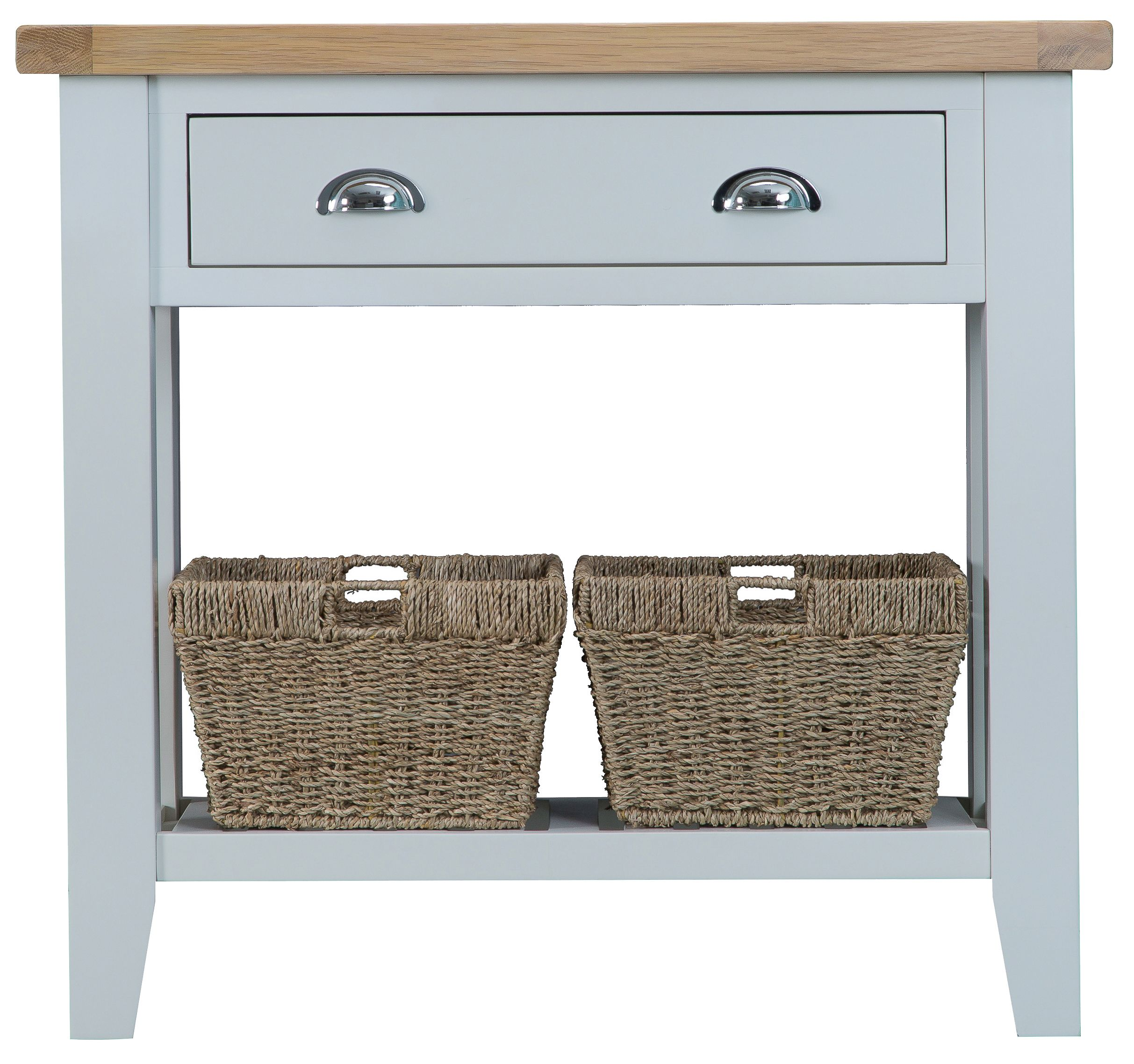 Toronto small console table with baskets inted in grey also toronto small console table with baskets inted in grey also available in white geotapseo Choice Image