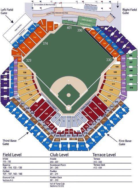 Citizen Bank Park Seating Chart Phillies Phillies