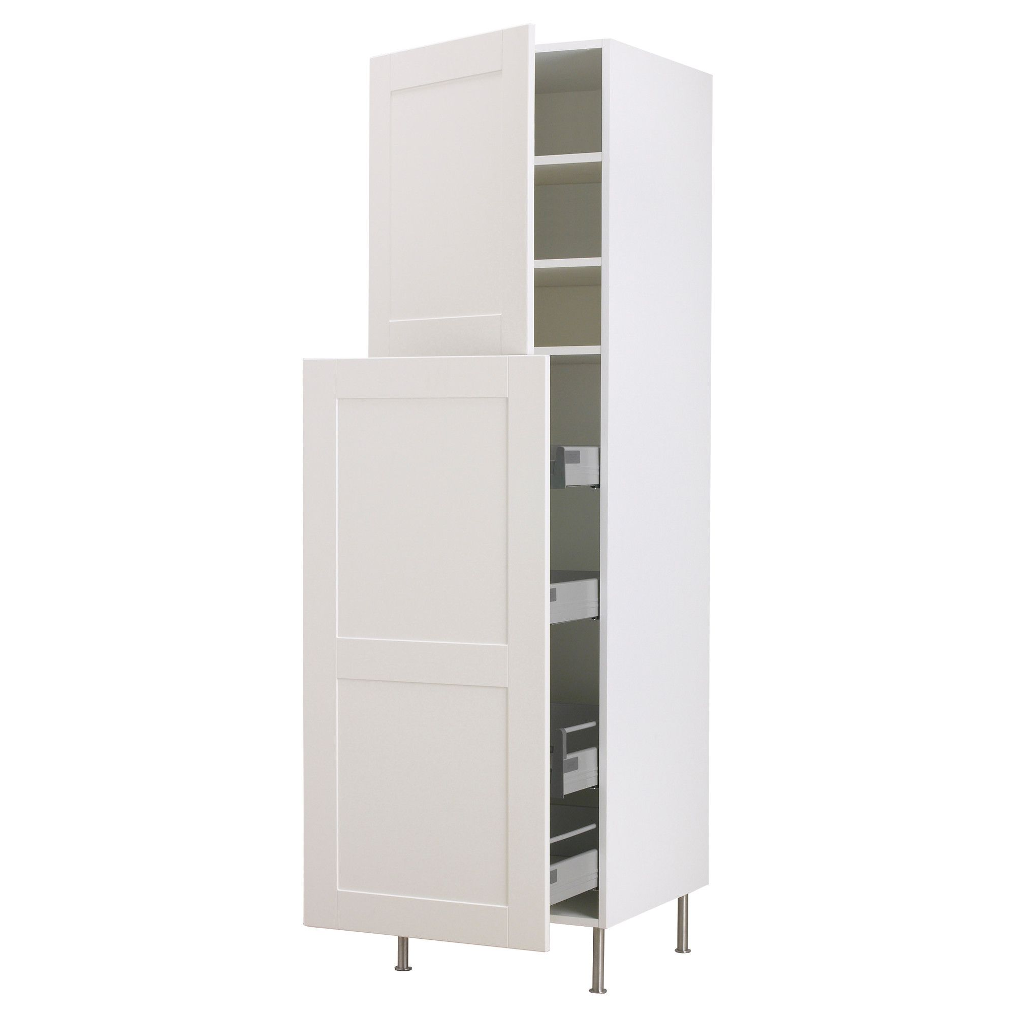Pull Out Kitchen Shelves Ikea Faktum High Cab W Pull Out Storage 2 Doors 40x211 Cm Ikea