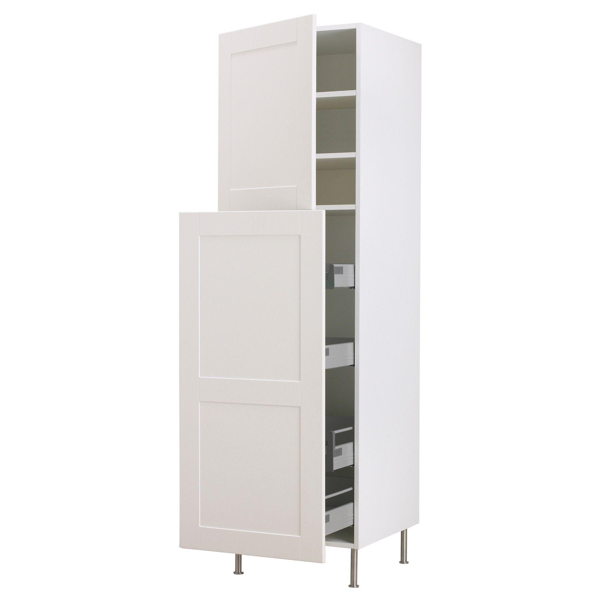 Kitchen Storage Furniture Ikea Faktum High Cab W Pull Out Storage 2 Doors 40x211 Cm Ikea
