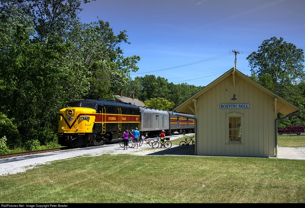 RailPictures.Net Photo: CVSR 6771 Cuyahoga Valley Scenic Railroad MLW FPA4 at Akron, Ohio by Peter Bowler