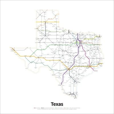 A simplified map of all Interstate and U.S. Highways in the state of ...
