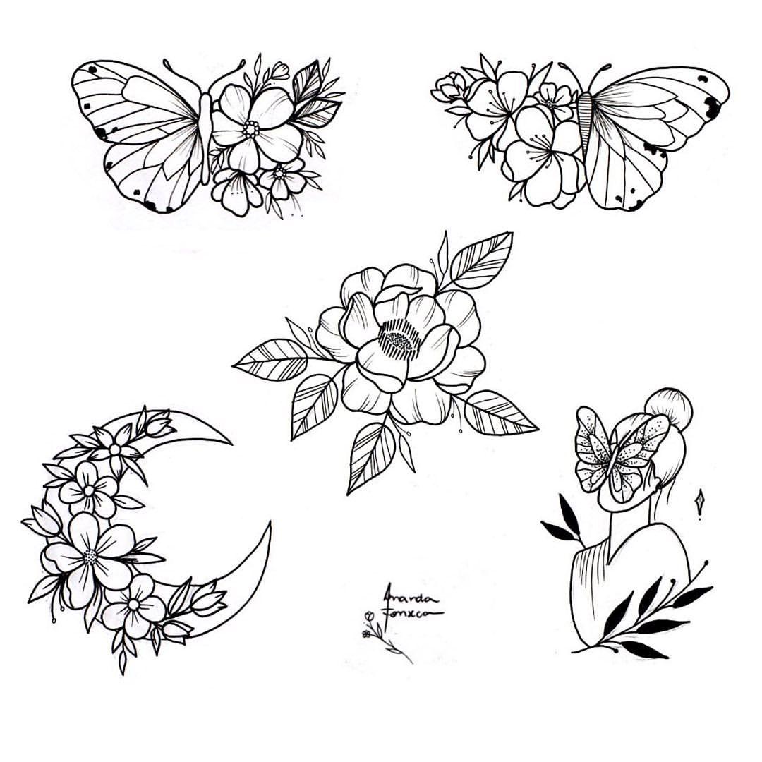 "Amanda Fonseca on Instagram: ""#illustration #tattoo #mandsqueen #flowers"""
