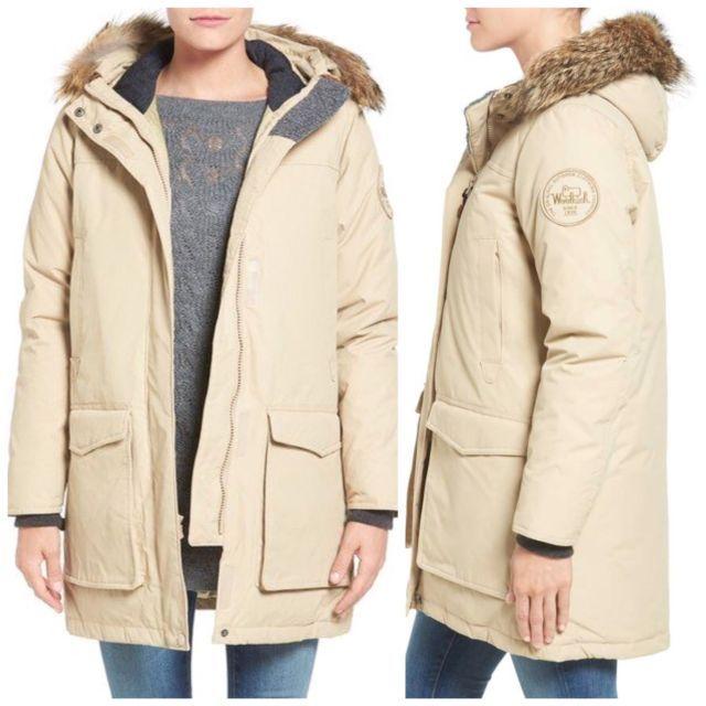 Woolrich White Label Patrol 650 Down Parka Coyote Fur Hood Coat 15013 Sand Large Ebay Fur Hood Coat Down Parka Coyote Fur