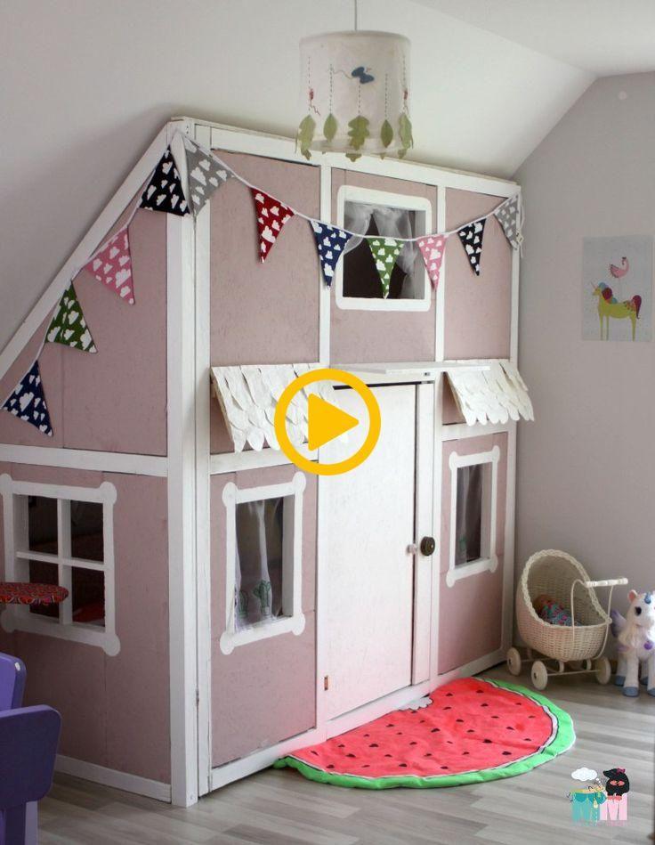Hausbett im Kinderzimmer selber bauen, Anleitung