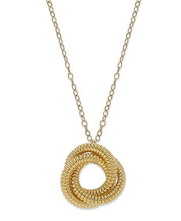 Signature Gold Knot Pendant Necklace in 14k Gold over Resin