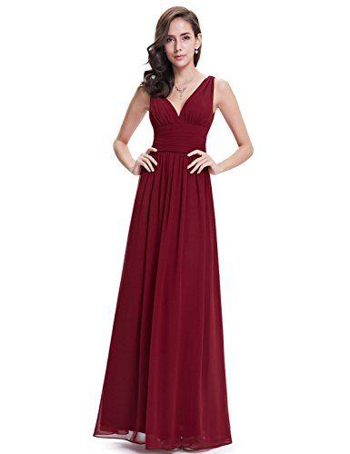 Kleid bordeaux v ausschnitt