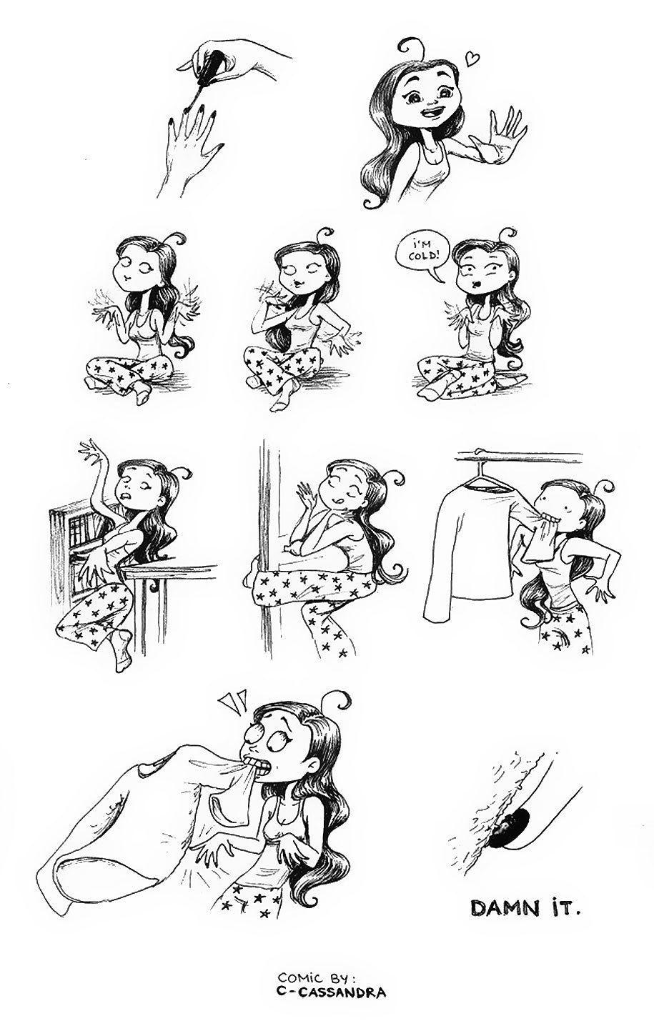 Women's Everyday Problems In 22 Hilariously Accurate Cartoons. - http://www.lifebuzz.com/cassandra-calin/