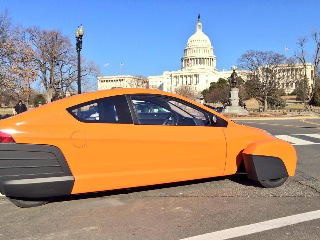 Orange Elio Motors Car This May Be My Next 80 Mpg And About 7k