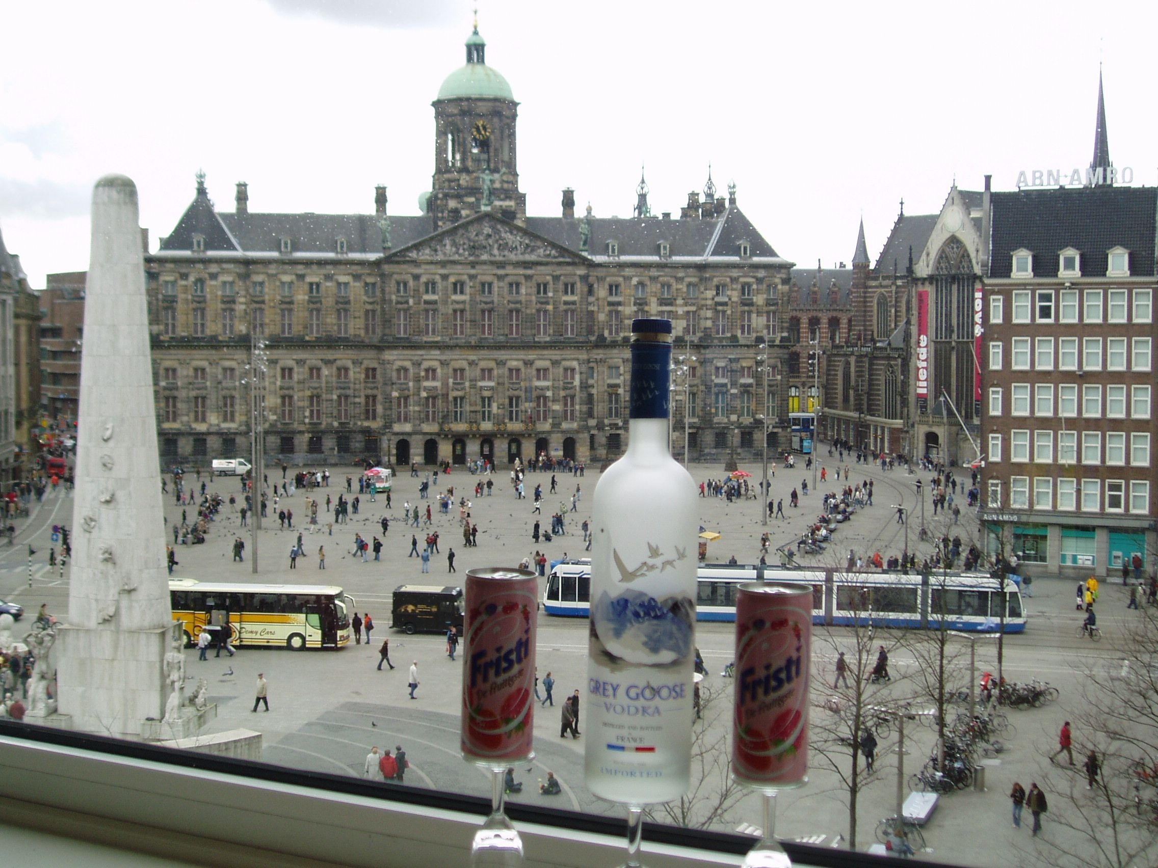 Amsterdam Dam Square Royal Palace View From Top Floor