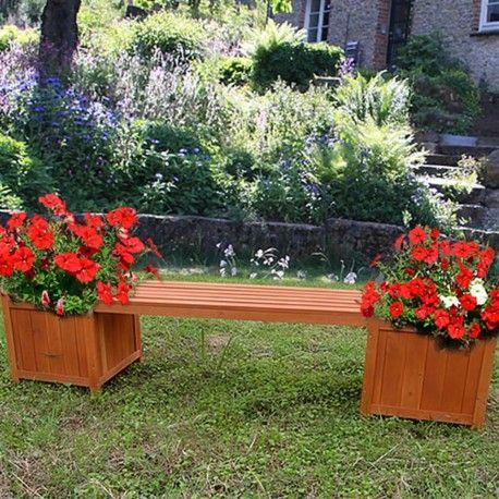 Banco con maceteros laterales para Jardín ideas Pinterest - maceteros para jardin