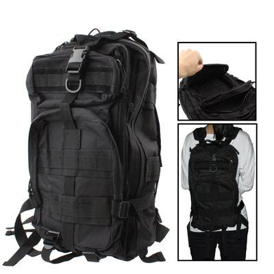 Military Nylon Oxford Waterproof 3P Tactical Backpack Bag with Adjustable Strap Black >>> Read more reviews of the product by visiting the link on the image.