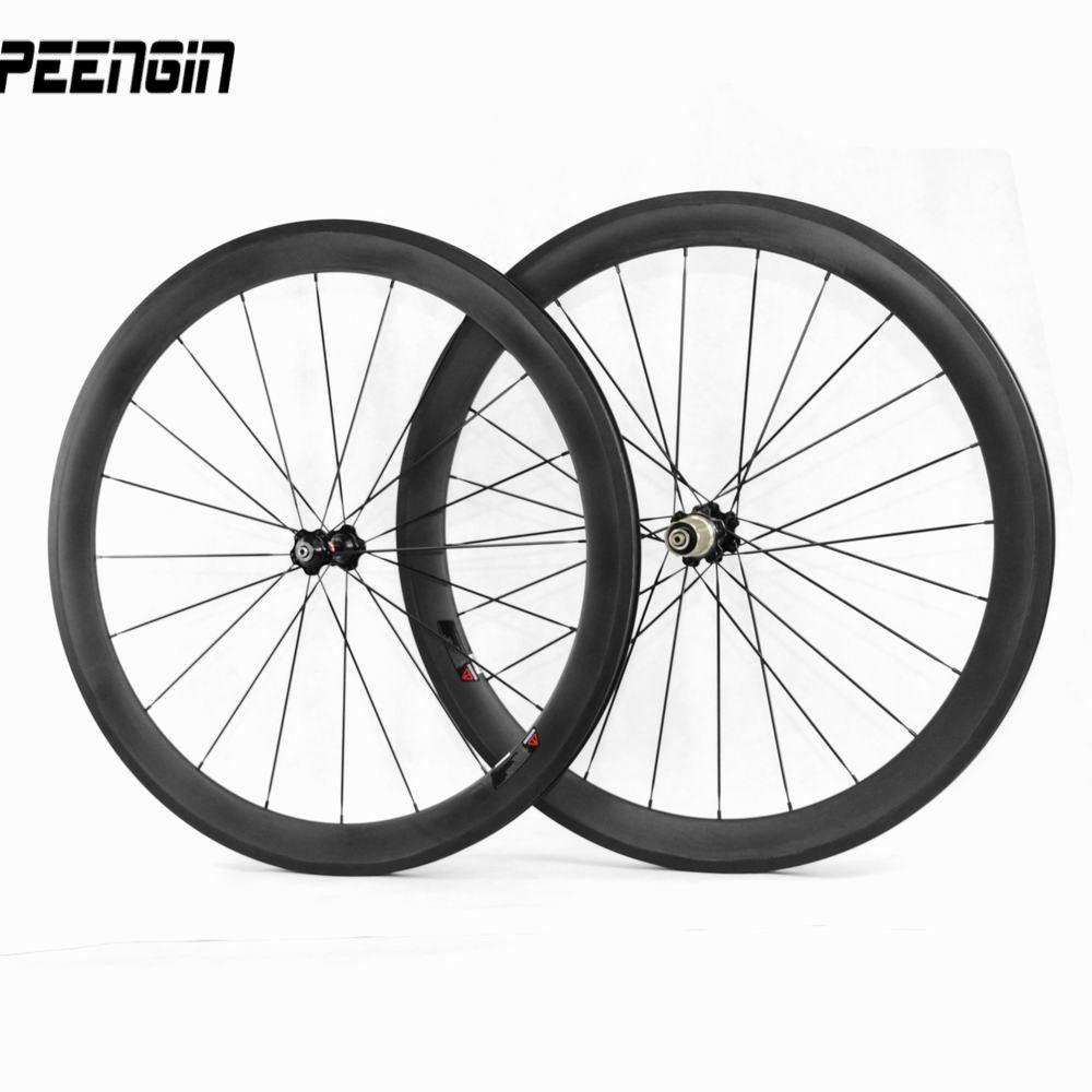 Vcycle Nopea 700c Carbon Fiber Racing Road Bike Wheelset 50mm