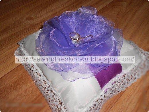 خياطة و تفصيل خياطة وسادة لحمل خواتم الخطوبة Sewing Cushions Engagement Sewing