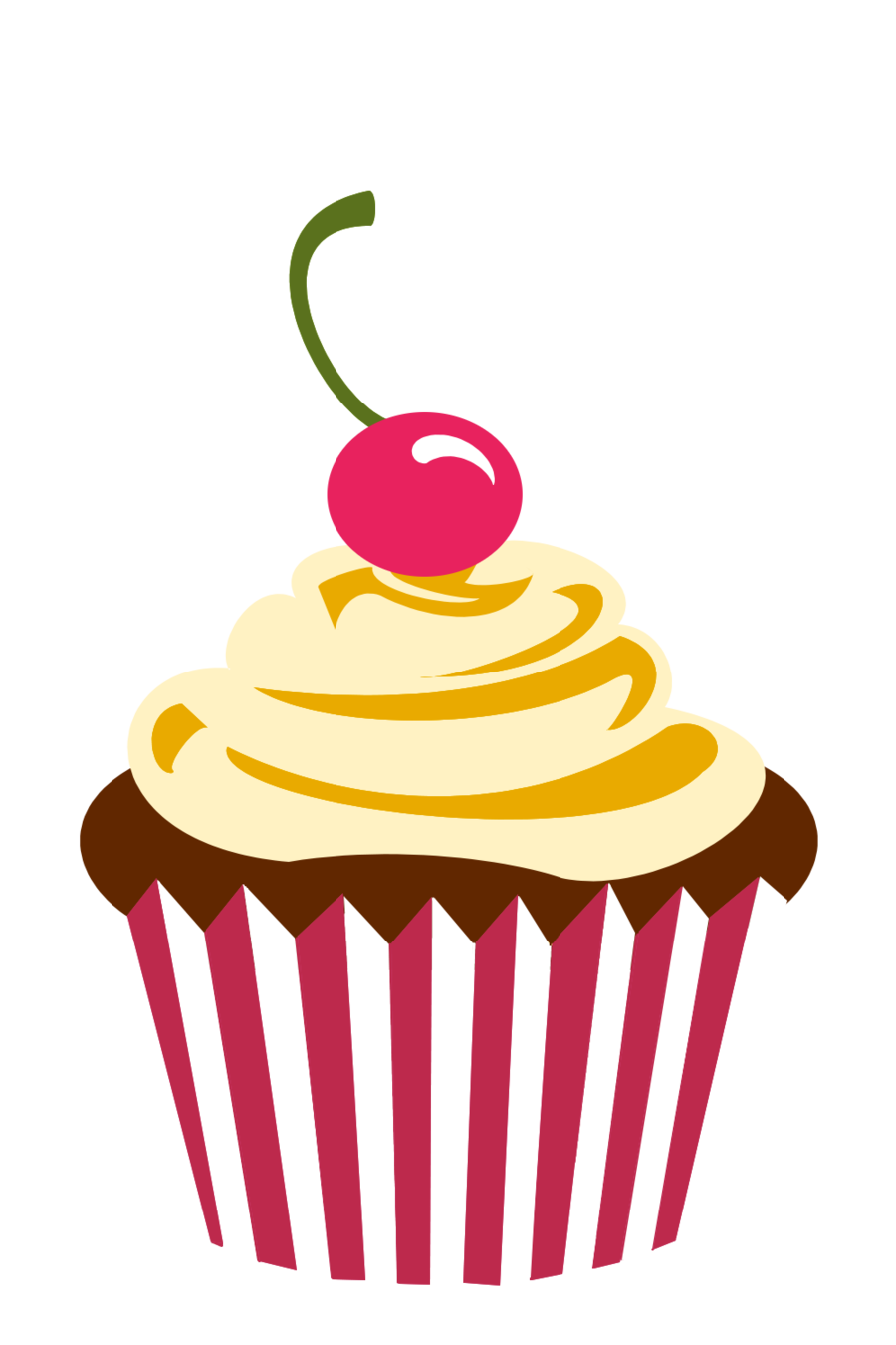 Cake Design Png : Cupcake Logo Png Cherry chocolate cupcake by Party ...