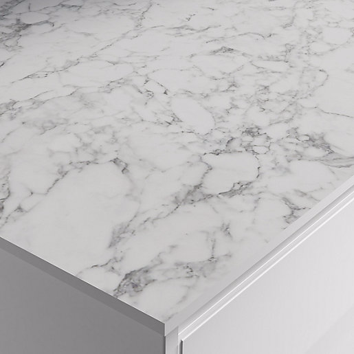 Marmo Bianco Zenith Compact Worktop 610mm X 12 5mm X 3m Wickes Co Uk In 2020 Laminate Worktop Laminate White Worktop