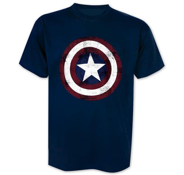 Marvel T-Shirt Captain America Distressed Shield. Hier bei www.closeup.de
