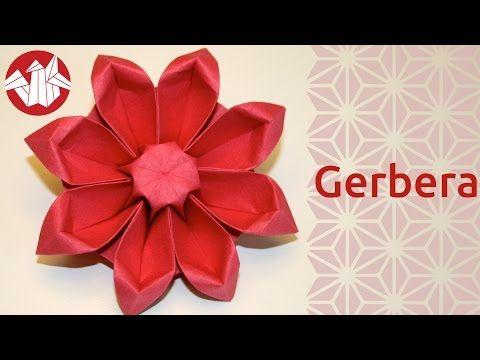 Origami Fleur Gerbera Flower Origami Gerbera Senbazuru
