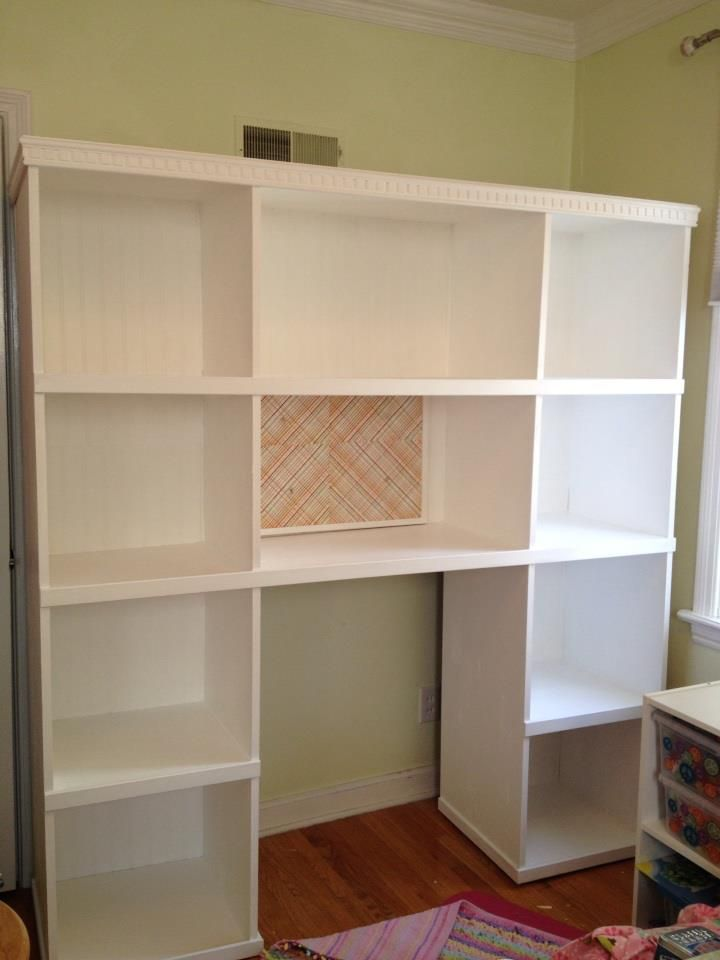 Bookcase Storage Unit Desk Combo Do It Yourself Home Projects From Ana White