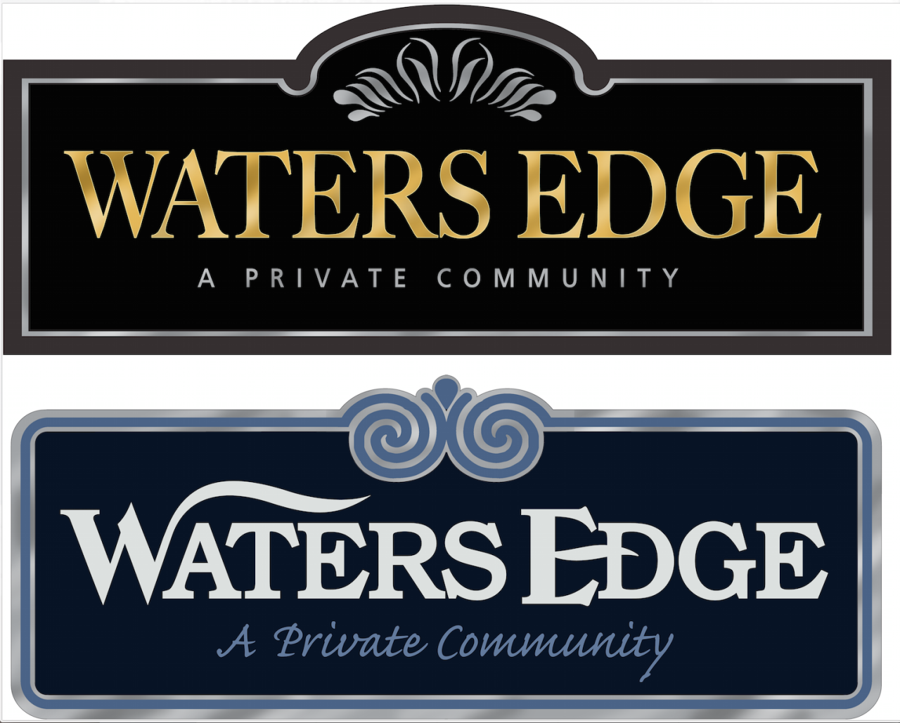 private community signs for waters edge strata sign company www