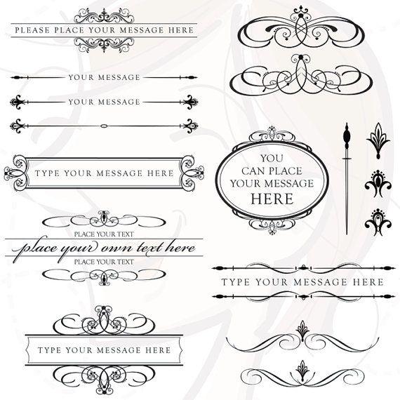 Vintage Calligraphy Clip Art Clip Art Vintage Wedding Clip Vintage Wedding Invitations
