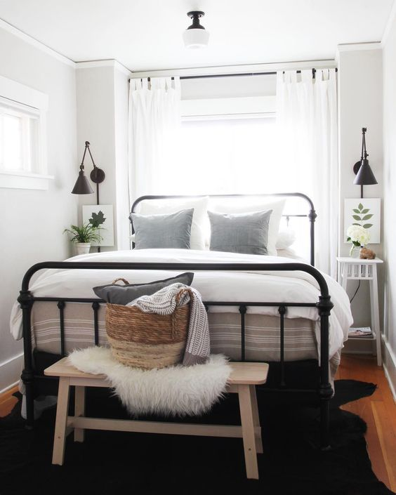 crisp, clean small bedroom. | a home for me | small