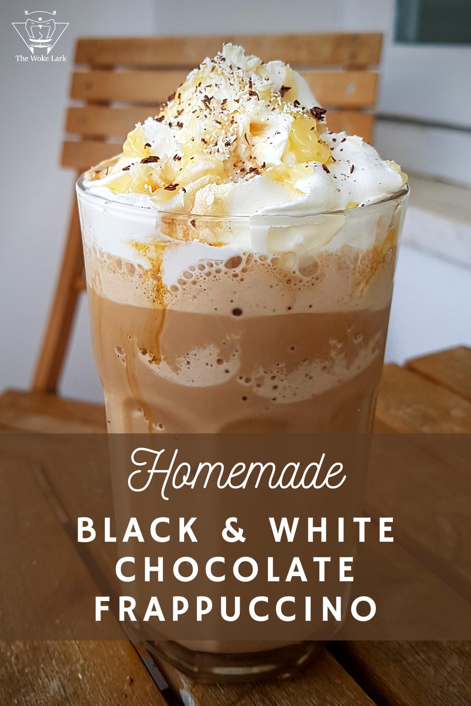 Black And White Mocha Frappuccino Recipe Recipe Recipes Frappe Recipe Coffee Drink Recipes