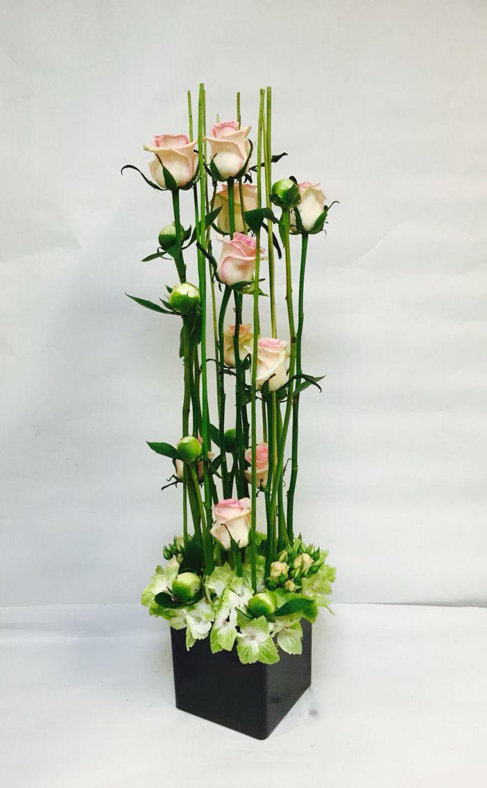 Parallel Arrangement Floral Designs Modern Flower