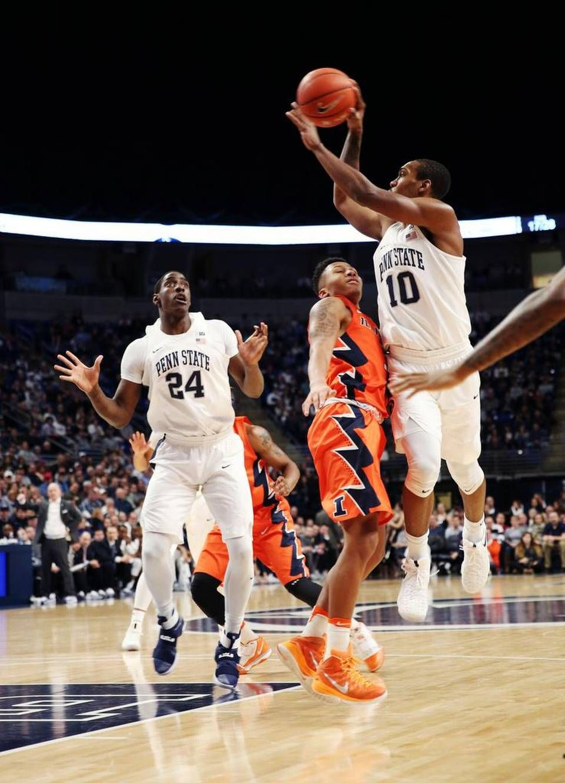 Penn State Men S Basketball Holds Off Illinois Rally For Win Penn State Penn State Athletics Penn State Basketball