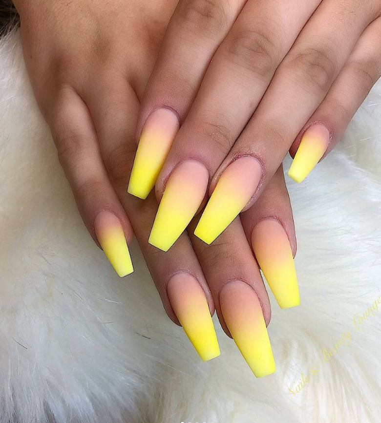 82 Trendy Acrylic Coffin Nails Design For Long Nails For Summer Page 46 Of 81 Neon Nail Designs Ombre Acrylic Nails Summer Acrylic Nails