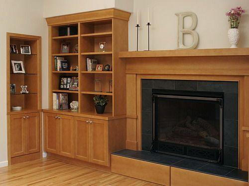 Bookshelf Ideas Elegant Small Fireplace
