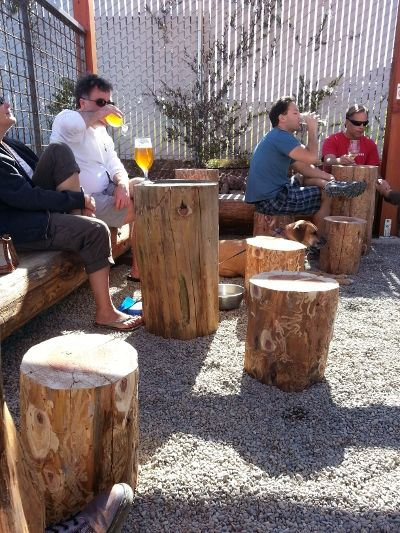 Log Tables More Places To Set Down Your Beer In The Discretion Beer Garden Inspiration