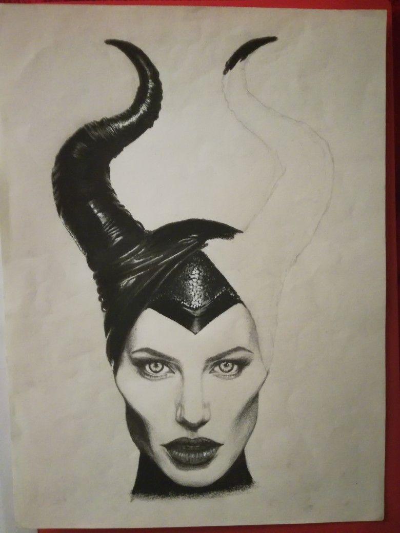 Maleficent Drawing Dibujo De Malefica Dibujos De Malefica Dibujos Faciales Dibujos