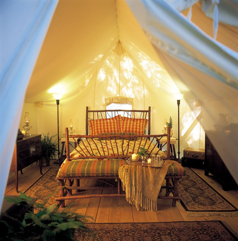 Tent camping redefined: The luxury tent