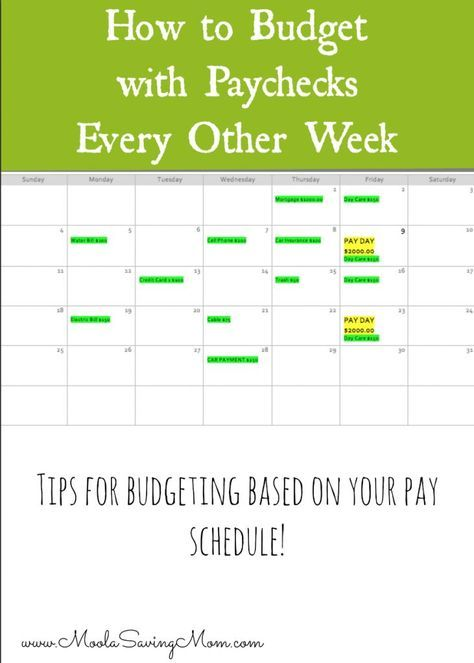 How to Budget If You are Paid Every 2 Weeks BUdgeting Pinterest