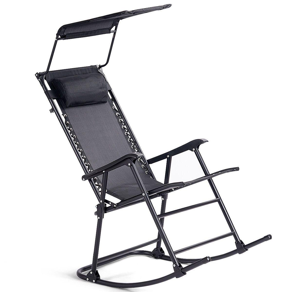 Zero Gravity Folding Rocker Porch Rocking Chair in 2020
