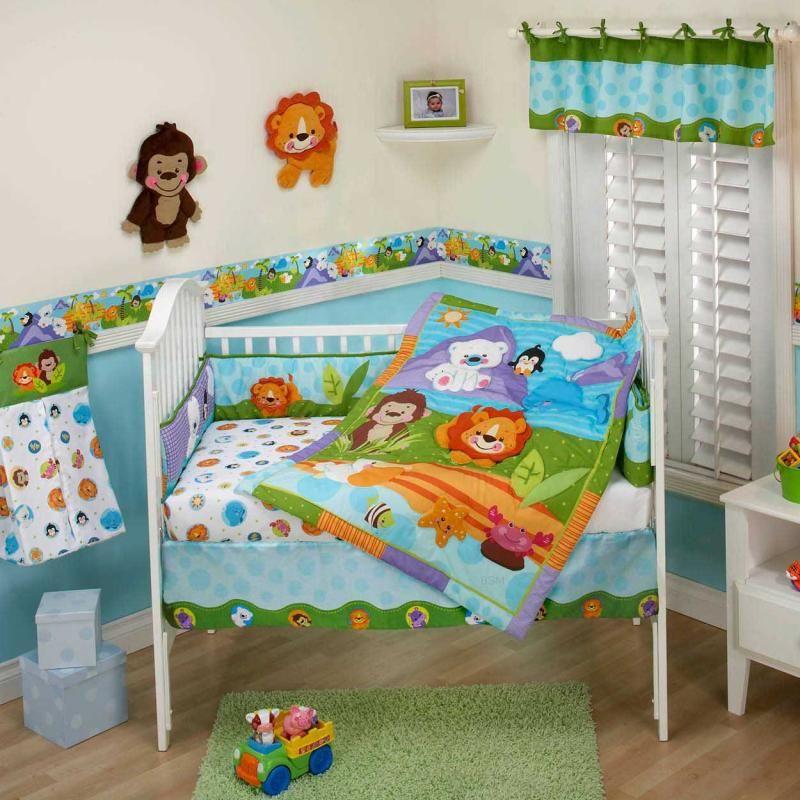 Precious Planet Arctic Hero Baby Crib Bedding By Fisher