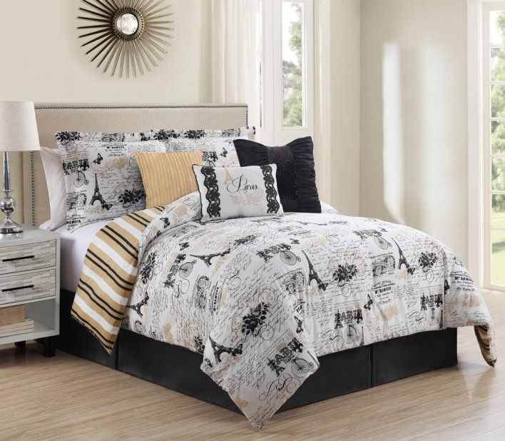 Eiffel Tower and Paris Themed Bedding - Cute Comforters | Bed\'s ...