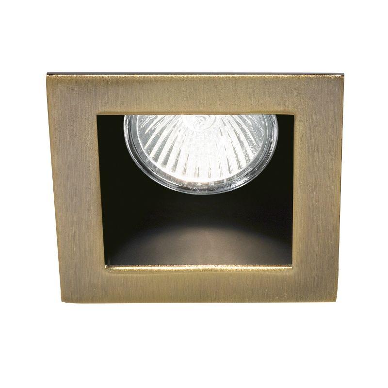 Rückversetzter Decken-Einbaustrahler Funky GU10 eckig in bronze - leuchten fürs wohnzimmer