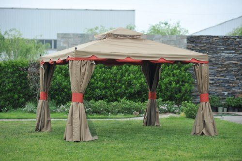 Benson Gazebo 10 12 With Netting And Walls Landscape Lighting Gazebo Gazebo Canopy Gazebo Plans