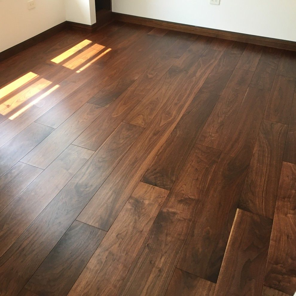 walnut wide plank wood flooring finished with woca master oil natural