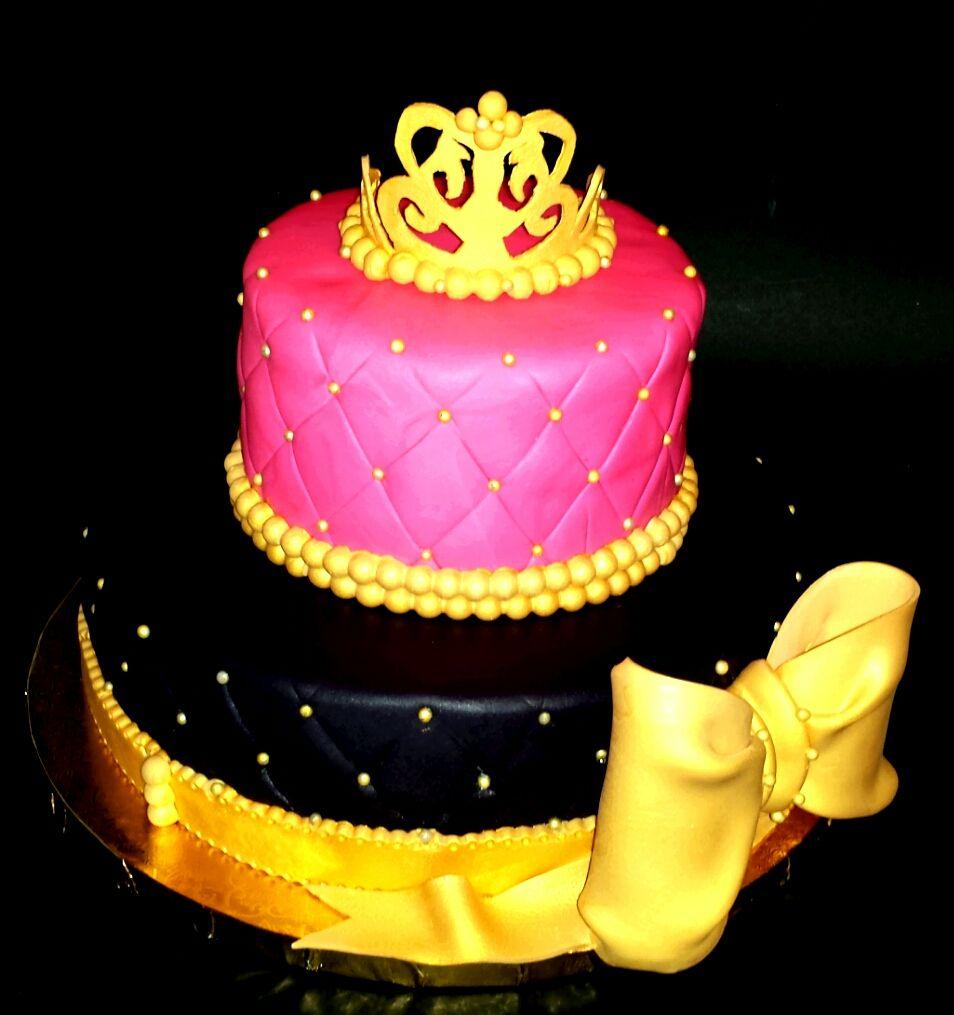 Princess Cake Pink Black Gold Los Angeles CA