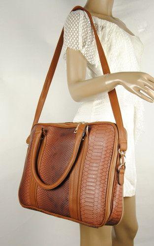 Women Faux Leather Laptop Handbag Tote Bag Briefcase Shoulder Work Satchel Purse Ebay