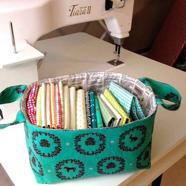 Hour Basket: 1 Hour Sewing Patterns #free pattern | Craft Room ...