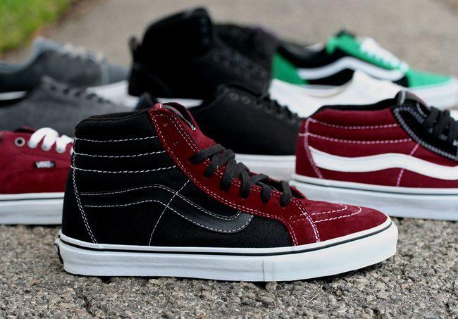 22dec3599d577f Vans SH8 Hi Vert Pro Grosso Blk Red