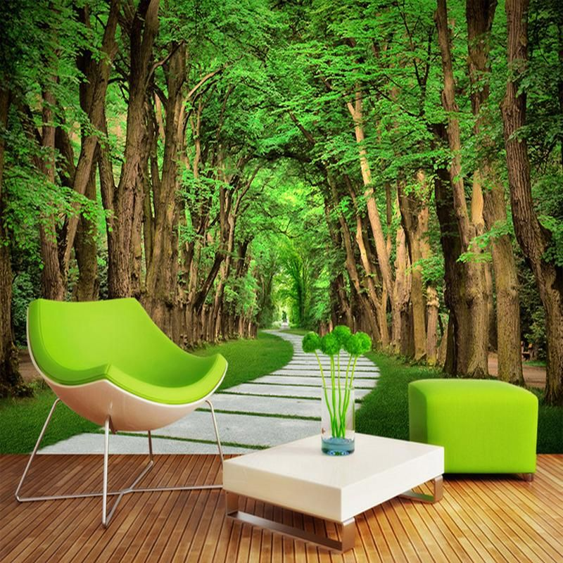 Forest Stone Road Wallpaper Mural (㎡) Wall wallpaper, 3d